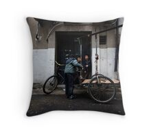 Shanghai Street Kids Throw Pillow