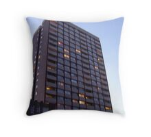 Tower Block by night Throw Pillow