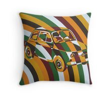 Chaotic Fiat 500 Arc Throw Pillow