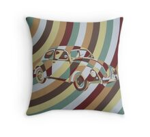 Chaotic Beetle Arc Throw Pillow