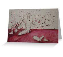 Self Mutilation Greeting Card