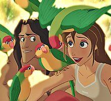 Tarzan & Jane by erinsheeranx