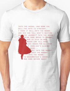 Into The Woods: Little Red Riding Hood  T-Shirt