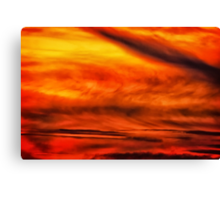 Abstract stirred sunset Canvas Print