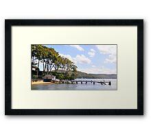 Seaside Landing - Broken Bay, Sydney Australia Framed Print