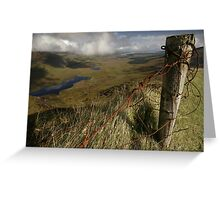 Rusty old fence at the Conor Pass Greeting Card