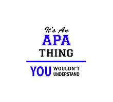 It's an APA thing, you wouldn't understand !! by allnames