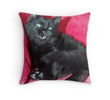 """""""Try and make me move ... Punk"""" Throw Pillow"""