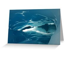 glacier cave Greeting Card