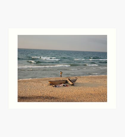 Malawi fisherman Art Print