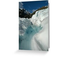 glacier walk Greeting Card
