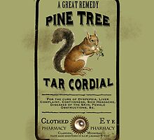 Pine Tree Tar Cordial - Steampunk Apothecary Label by ClothedEye