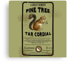 Pine Tree Tar Cordial - Steampunk Apothecary Label Canvas Print