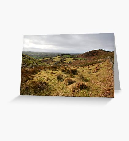 The rolling hills of Bantry Greeting Card