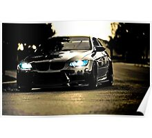 Black BMW Poster