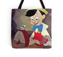 Pinocchio & Jiminy Cricket Tote Bag