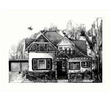 Doodle House Pen and Ink Art Print