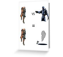 Rocket Launcher and Magnum Greeting Card