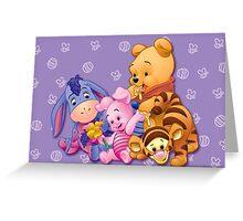 Baby Winnie The Pooh, Tigger, & Piglet Greeting Card