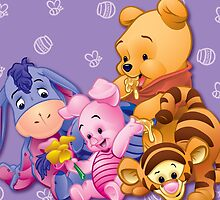 Baby Winnie The Pooh, Tigger, & Piglet by erinsheeranx
