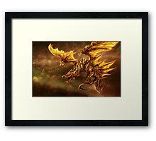 The Elder Scroll Online V Skyrim Dragon fire Framed Print