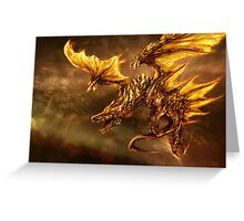 The Elder Scroll Online V Skyrim Dragon fire Greeting Card