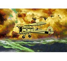 British Swordfish Biplane WWII  Photographic Print