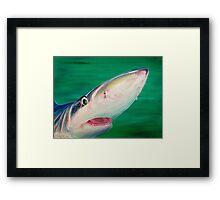 Blue Shark Portrait Framed Print