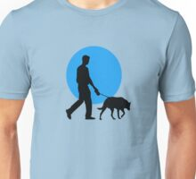 DOG WALKING MOON  Unisex T-Shirt