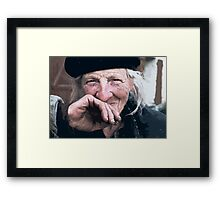 Portraits : BEST Honor Marie kindest of Mary... version 3 paint  color  collector  1977  3  (c)(t) by Olao-Olavia / Okaio Créations Framed Print