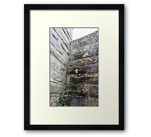 HDR Composite - Granite Wall and Lichen Framed Print