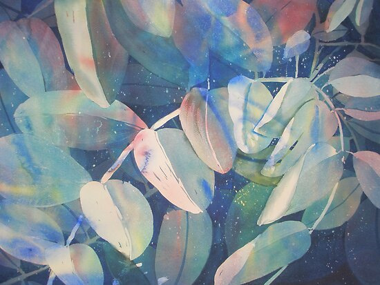 Watercolour: Summer Leaves by Marion Chapman