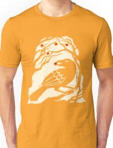 Autumn Berries Bird Print Unisex T-Shirt