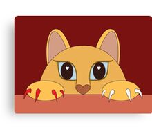 MANICURE PEDICURE CAT Canvas Print