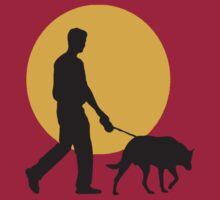 DOG WALKING SUNSET by SofiaYoushi
