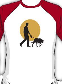 DOG WALKING SUNSET T-Shirt