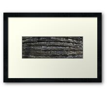 HDR Composite - Granite Wall Framed Print