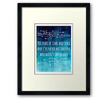 900 Years of Time and Space Framed Print