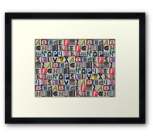 Street ABC Framed Print