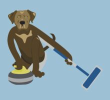 Chocolate Lab Curling T-Shirt