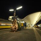 rotterdam central station at night by mtths