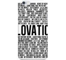 Lovatic All Songs iPhone Case/Skin