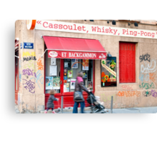 Cassoulet, Whiskey, Ping-Pong Canvas Print