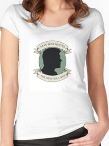 Dean Winchester - The Righteous Man Women's Fitted Scoop T-Shirt