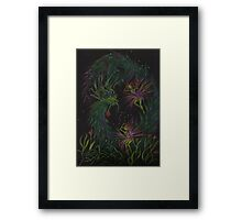 and all this time we thought it was the deer... Framed Print
