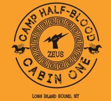 Percy Jackson - Camp Half-Blood - Cabin One - Zeus by gingerbun