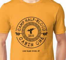 Percy Jackson - Camp Half-Blood - Cabin One - Zeus Unisex T-Shirt
