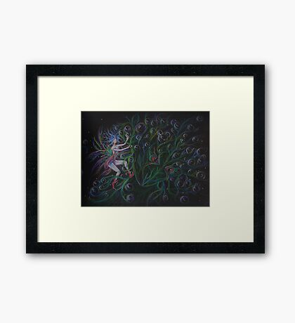 Bubble crown Framed Print
