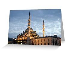 The New Mosque (Yeni Camii), Istanbul, Turkey Greeting Card
