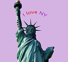 Liberty statue tattooed with stars by JoAnnFineArt